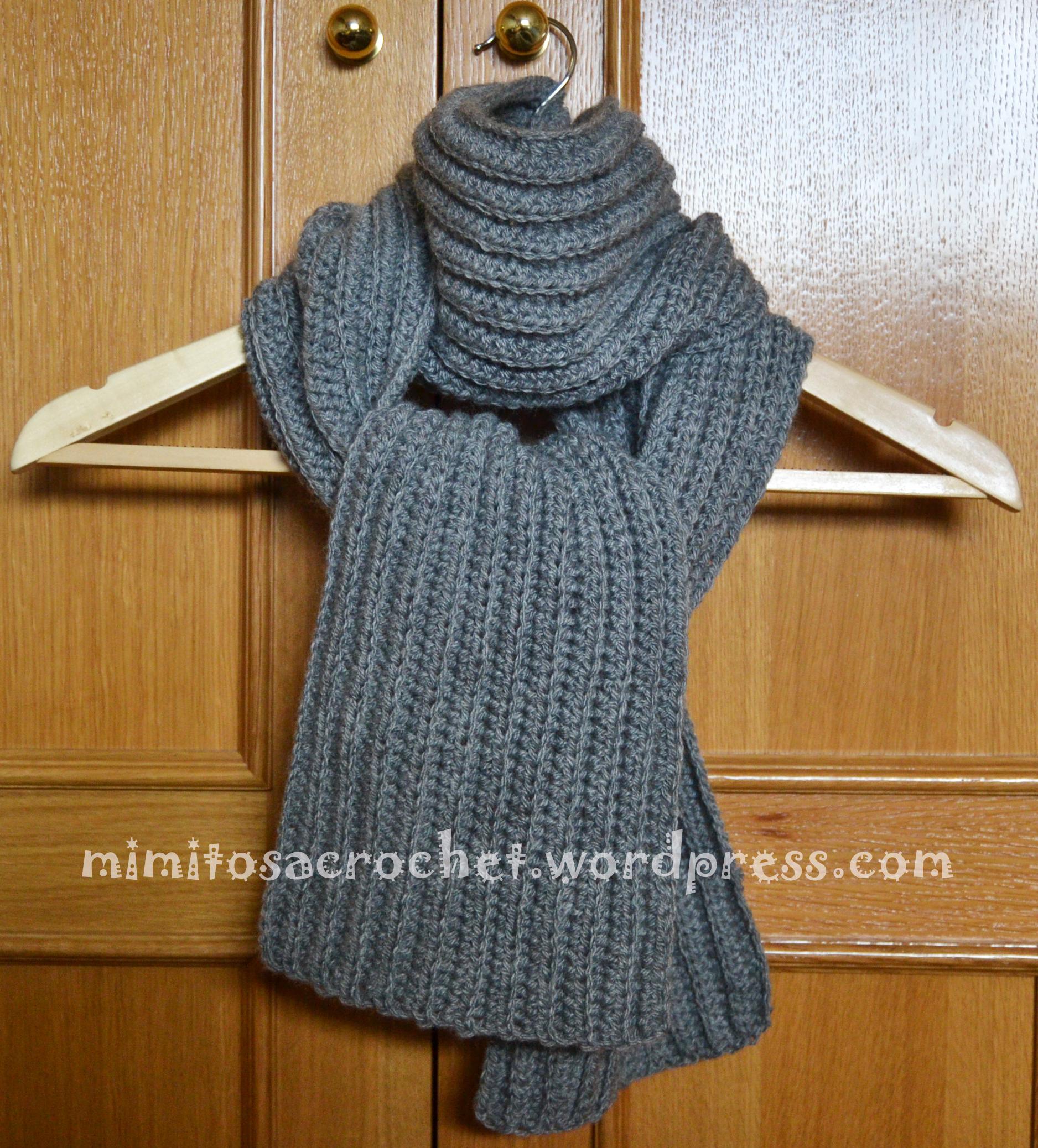 Bufanda a crochet con punto elástico – Mimitos a Crochet