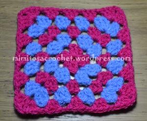 Cuadro Granny azul-fucsia