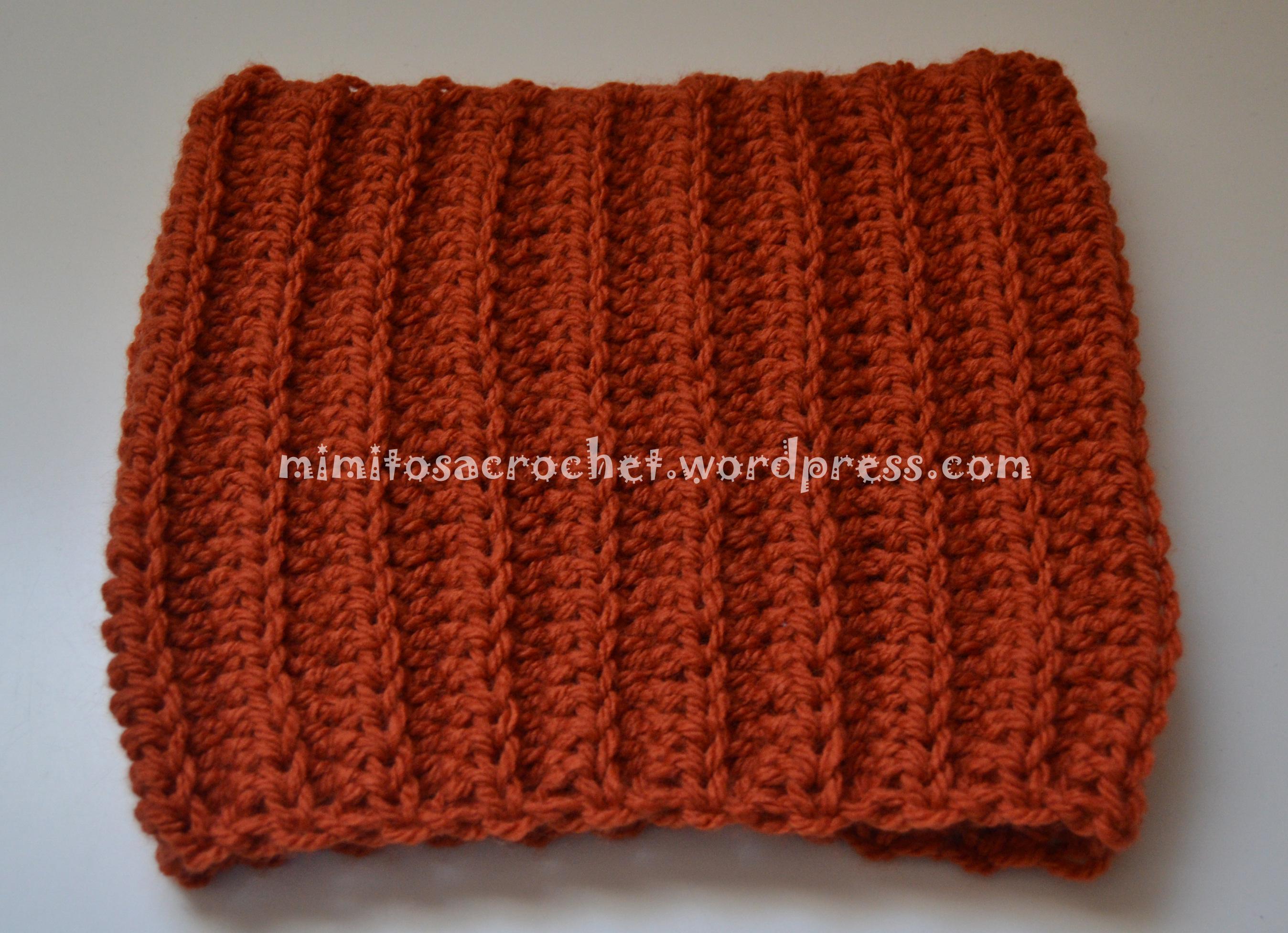 Cuello a crochet en punto elástico – Mimitos a Crochet