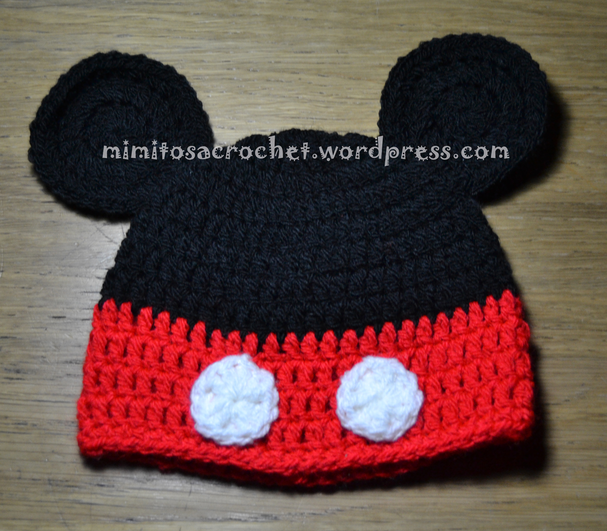 Gorros de Mickey y Minnie Mouse a Crochet – Mimitos a Crochet