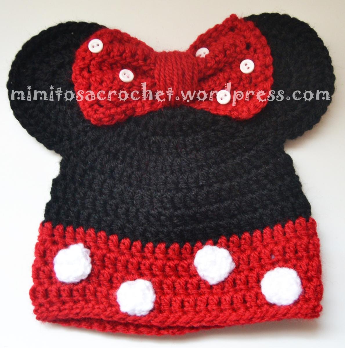 Gorros de Mickey y Minnie Mouse a Crochet – Mimitos a Crochet