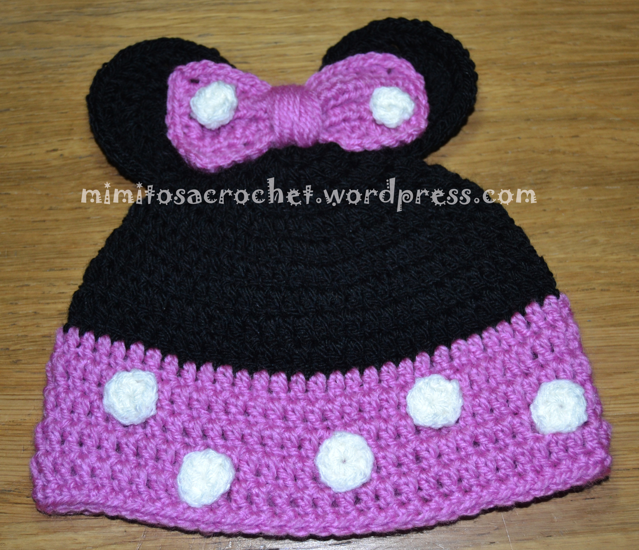 Gorros de Mickey y Minnie Mouse a Crochet | Mimitos a Crochet