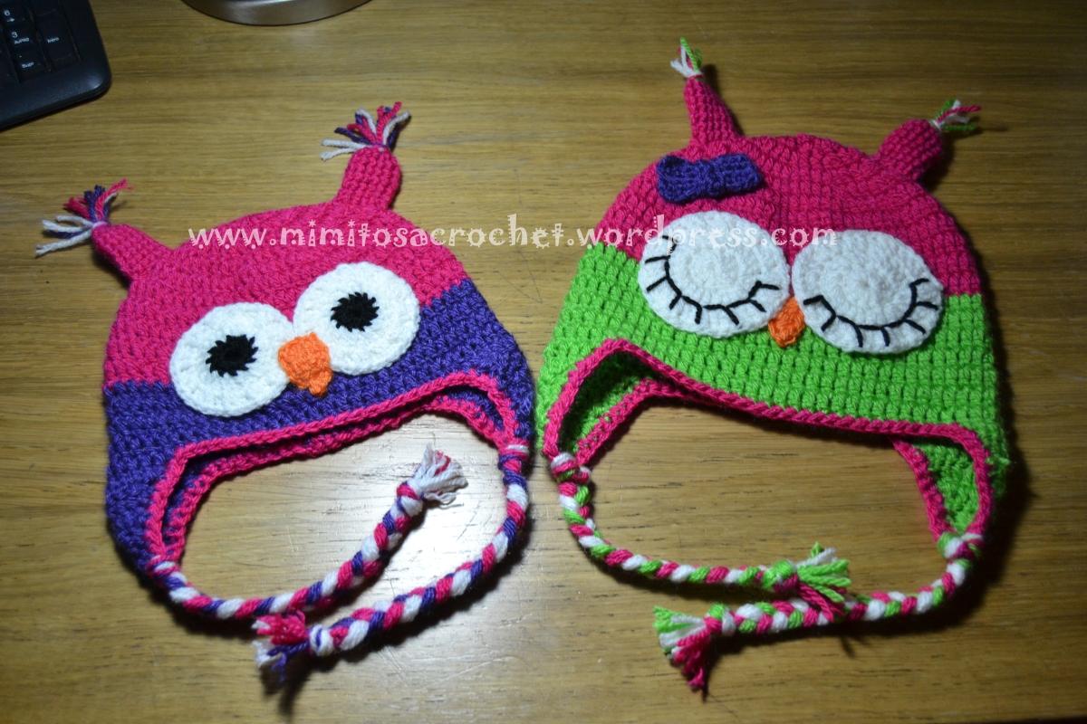 Gorro de Búho a Crochet – Mimitos a Crochet