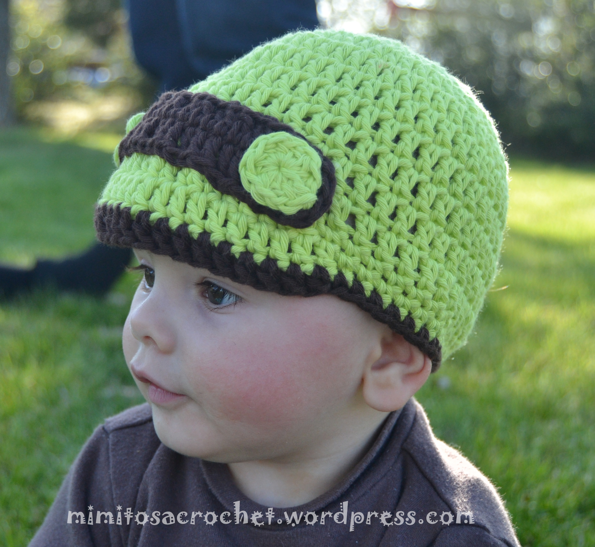 Gorro de entretiempo con visera a crochet II – Mimitos a Crochet