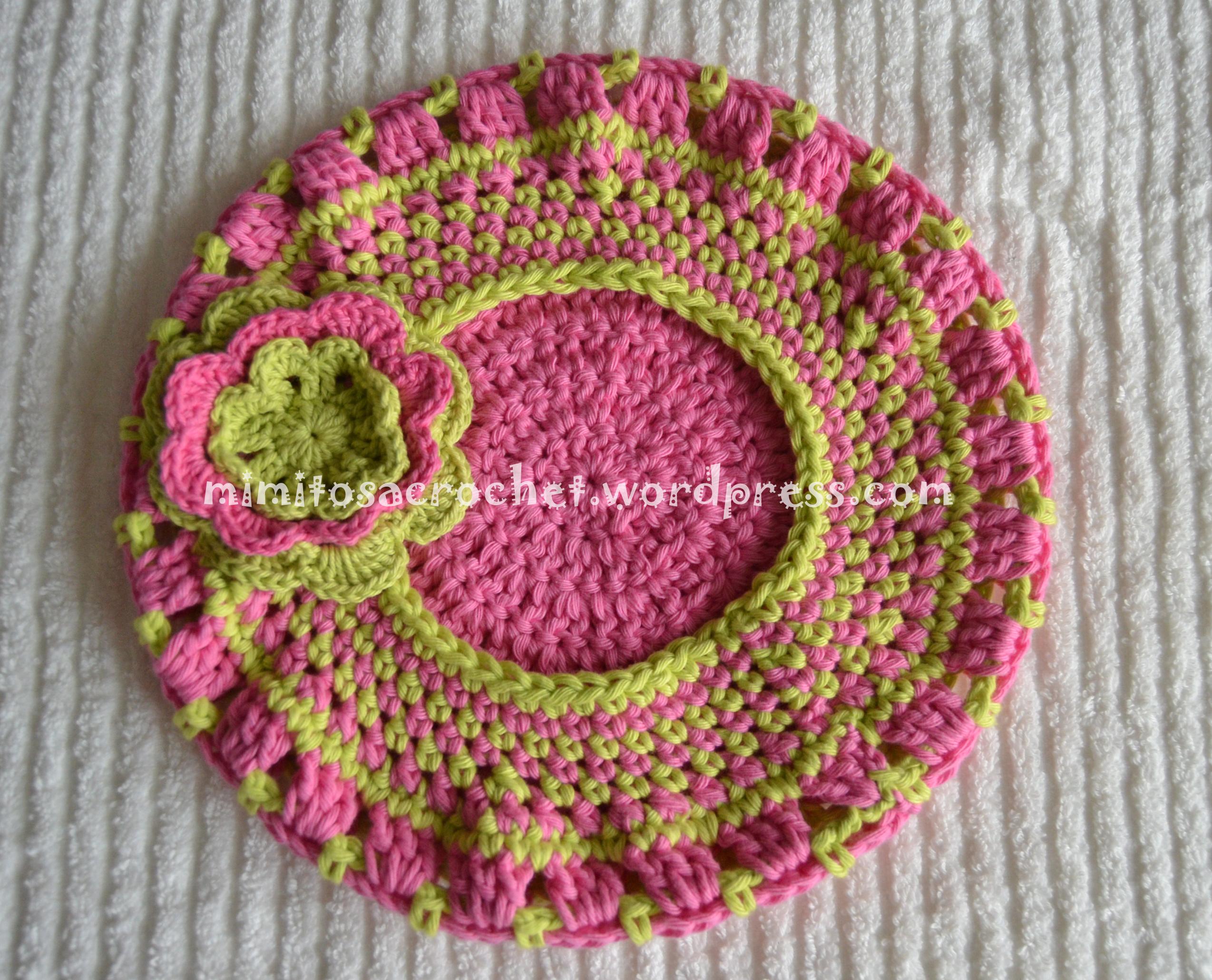 BOINA CON FLOR A CROCHET PASO A PASO | Patrones Crochet, Manualidades ...