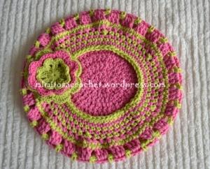 Boina y bufanda flor niña 009
