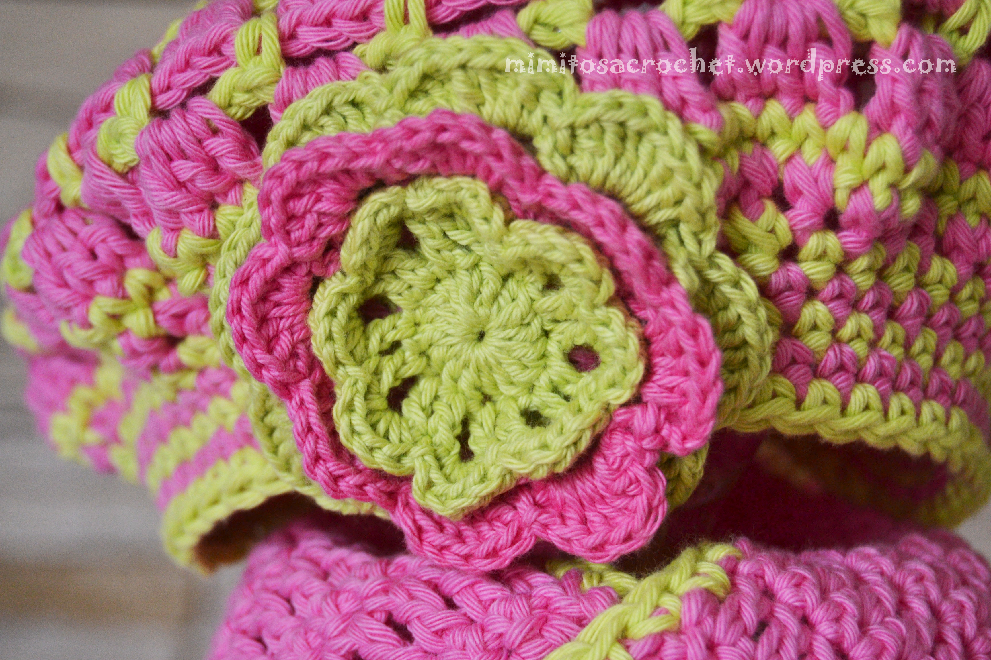 Boina y bufanda flor niña 018