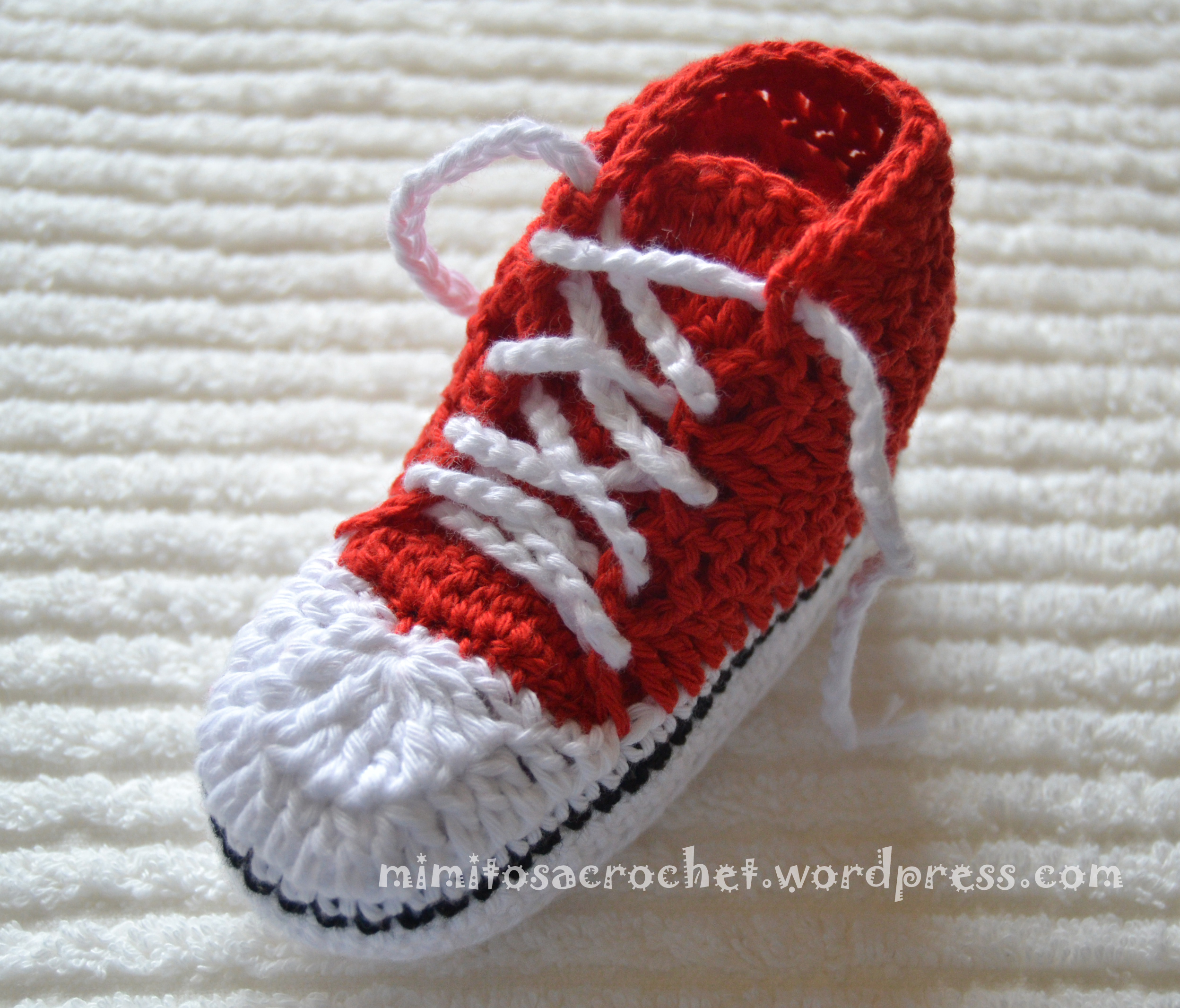 "Zapatillas de Puntera ""Converse All Star"" a Crochet – Mimitos a Crochet"