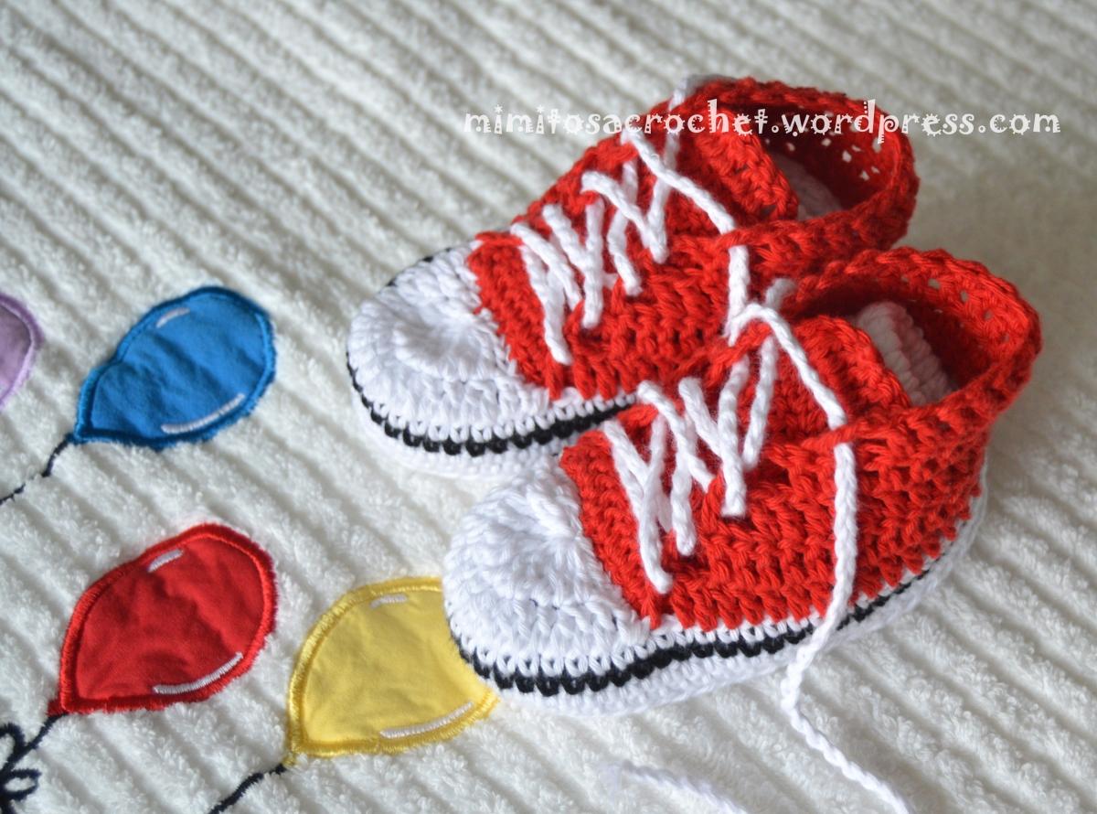 """Zapatillas de Puntera """"Converse All Star"""" a Crochet – Mimitos a Crochet"""