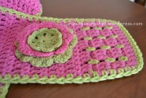 Boina y bufanda flor niña 006
