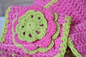 Boina y bufanda flor niña 019