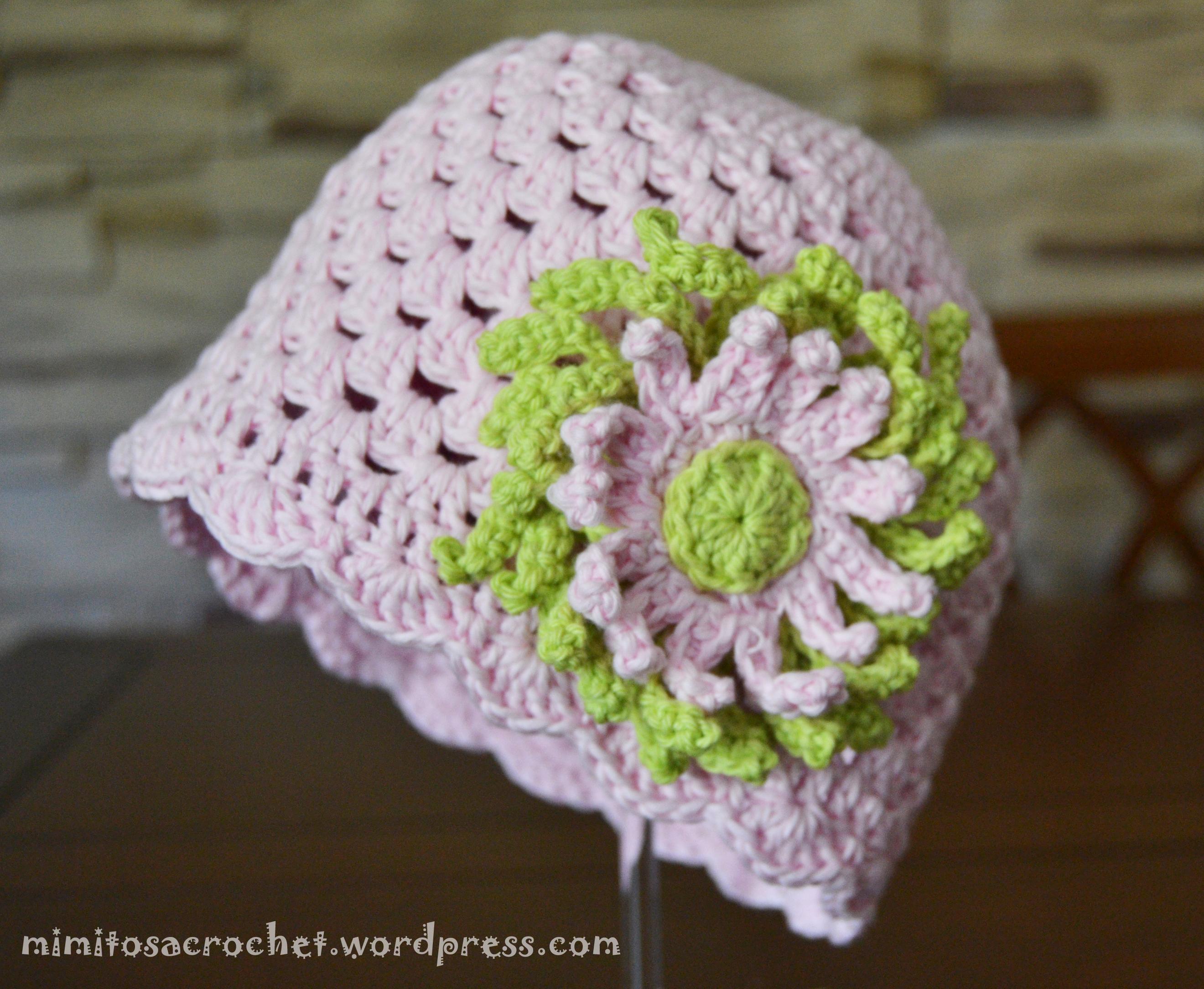 Gorro granny de verano con flor – Mimitos a Crochet