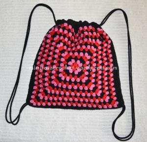 Bolsos granny rosa-rojo