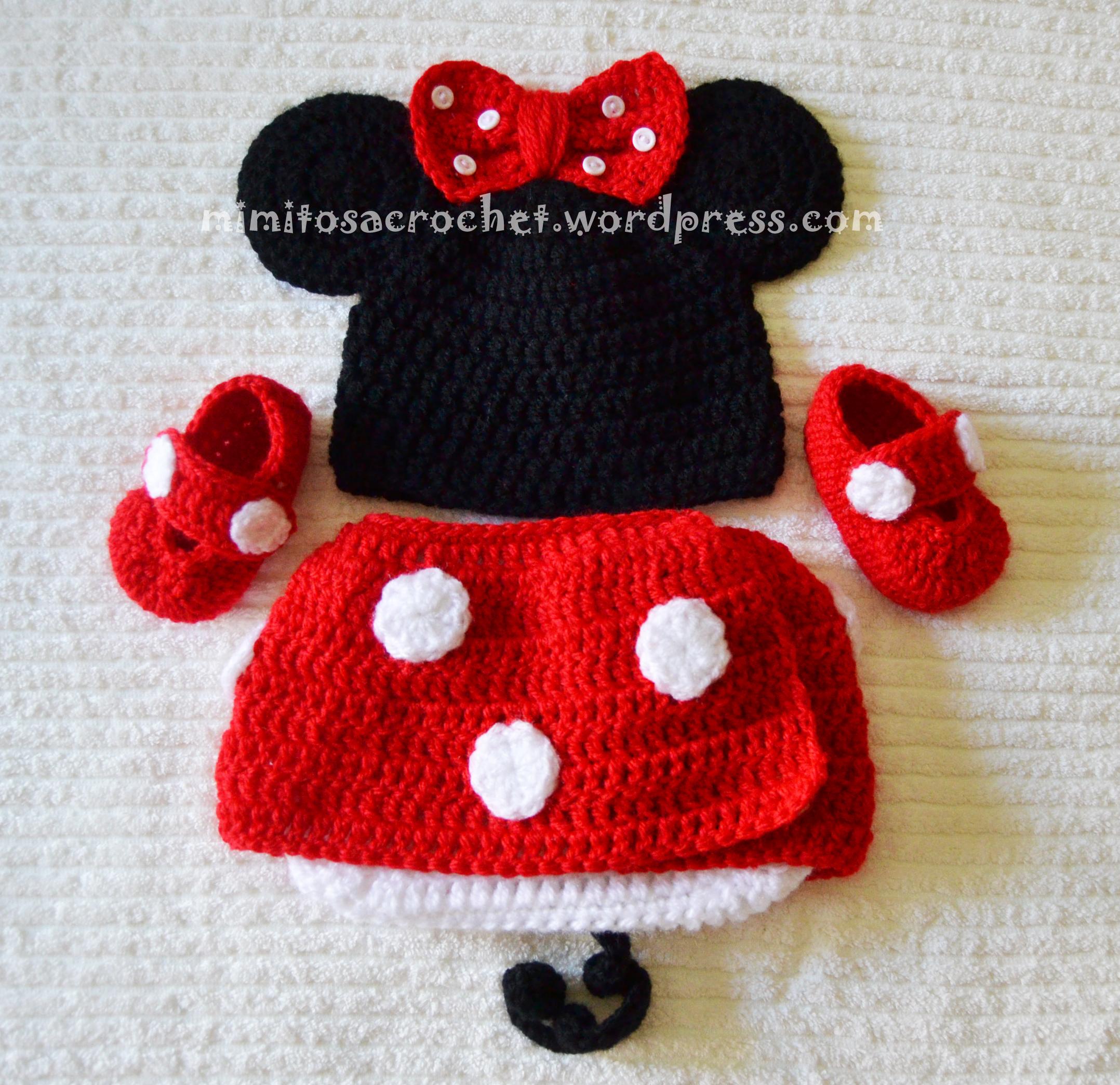 Mimitos Conjunto a Minnie con zapatos Crochet 0S8tSq c02bc0b65e9