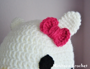 Gorro Hello Kitty lazo fucsia 002