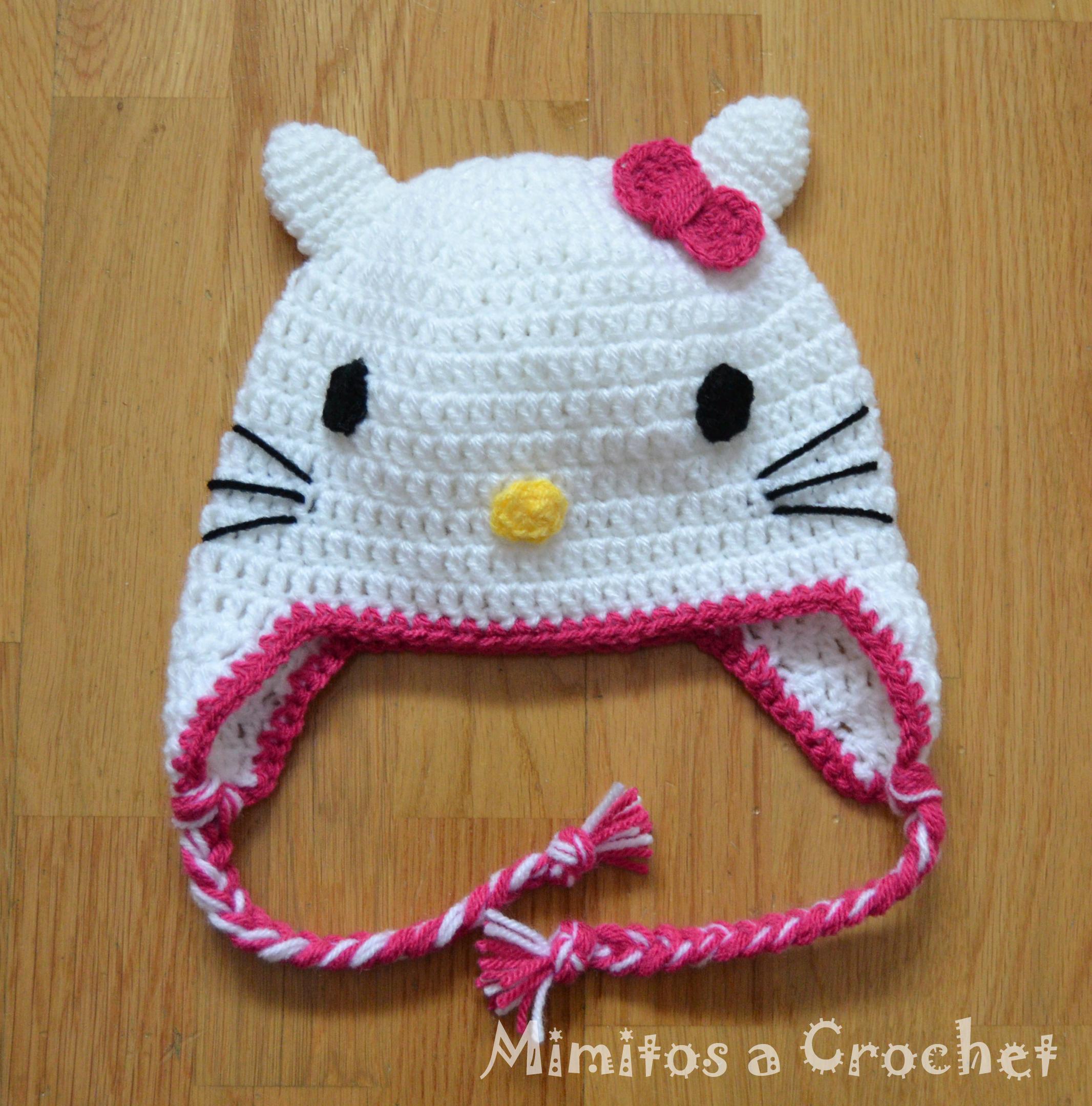 Gorro de Hello Kitty a Crochet – Mimitos a Crochet