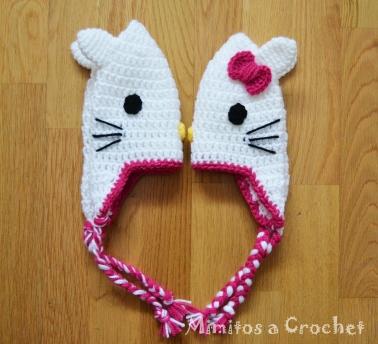 Gorro Hello Kitty lazo fucsia005