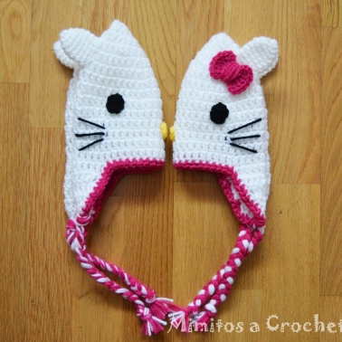 Gorro Hello Kitty lazo fucsia005