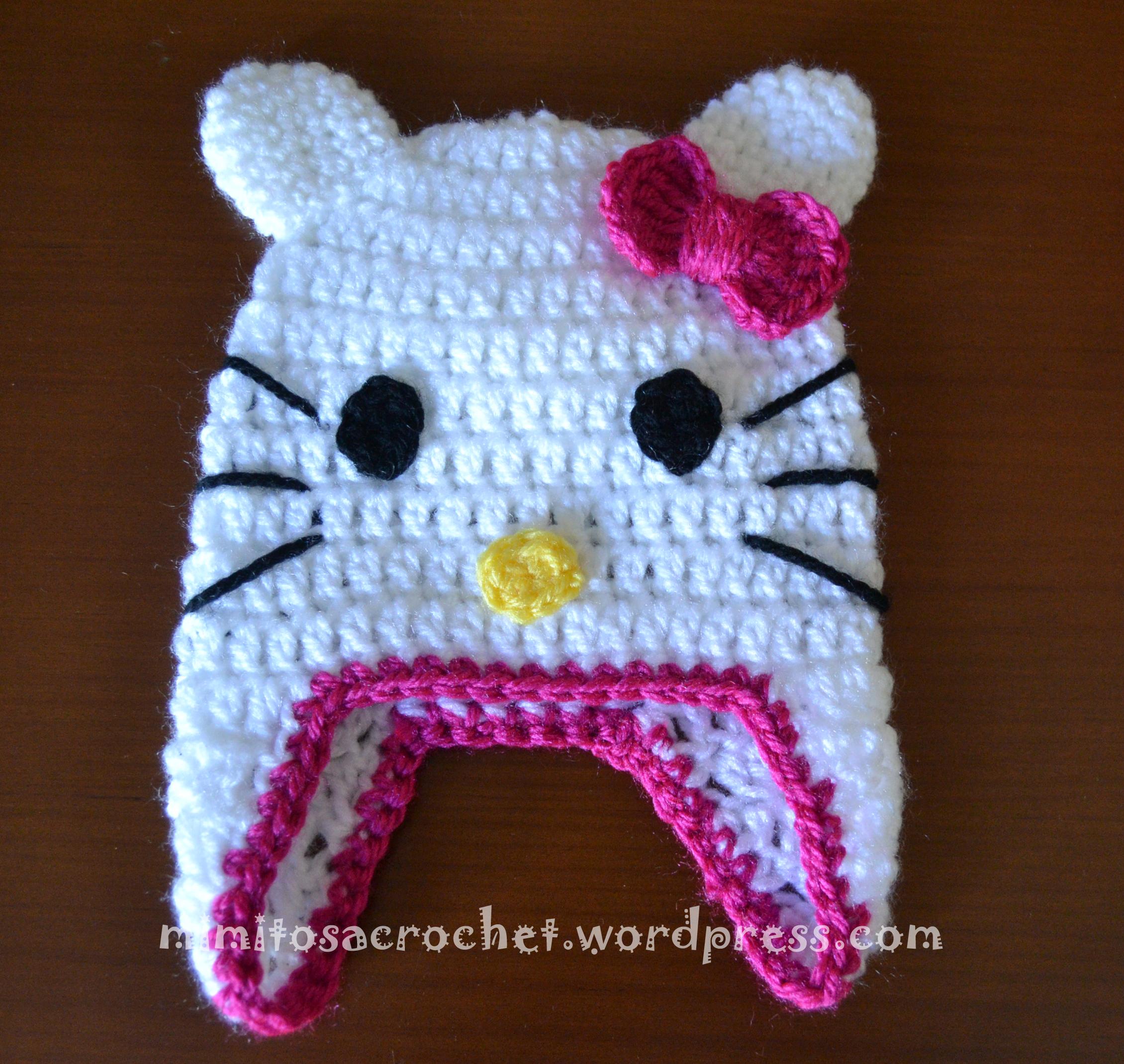 Asombroso Hello Kitty Patrón De Ganchillo Afgano Libre Viñeta ...