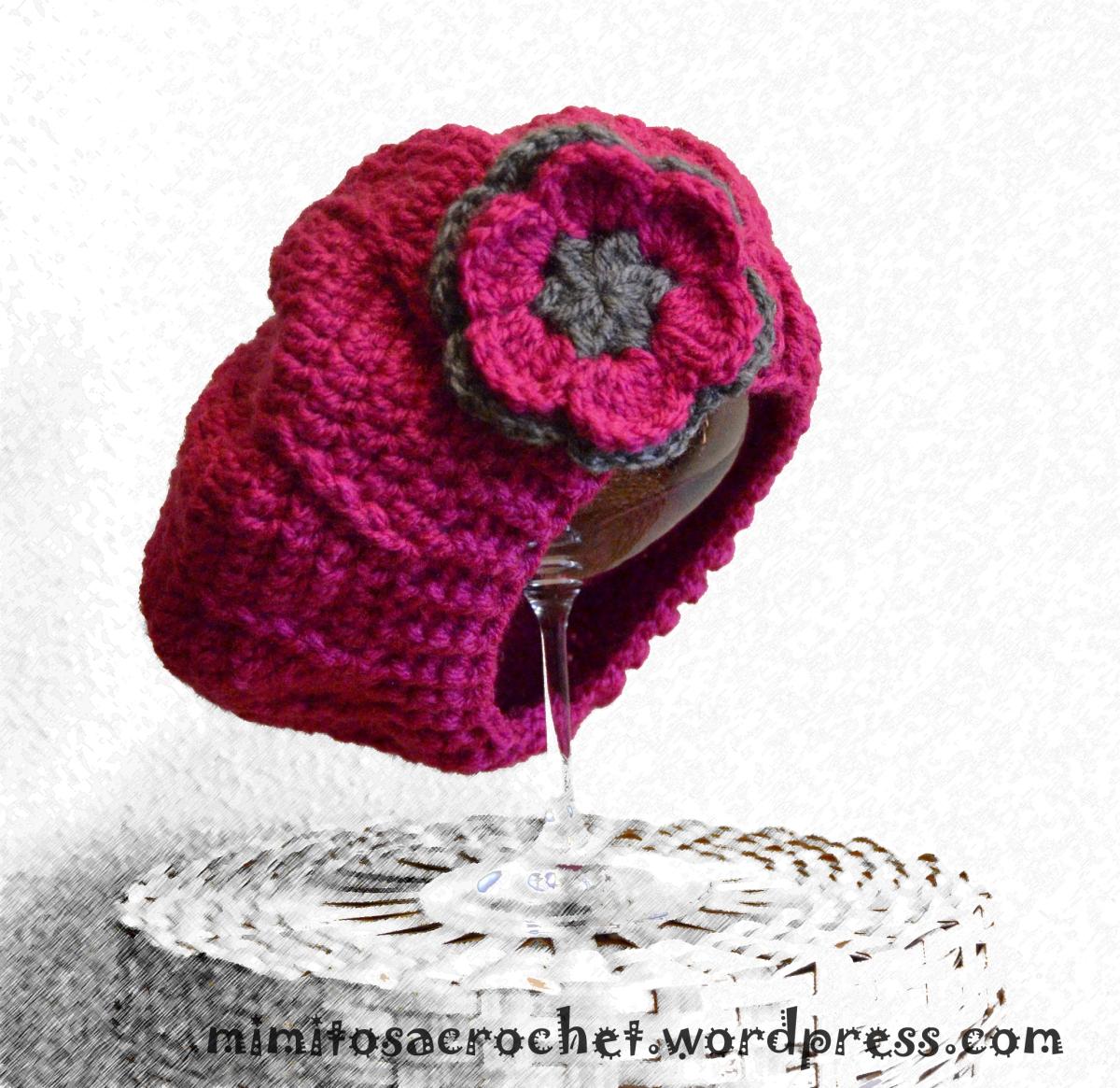 Boina De Relieves A Crochet