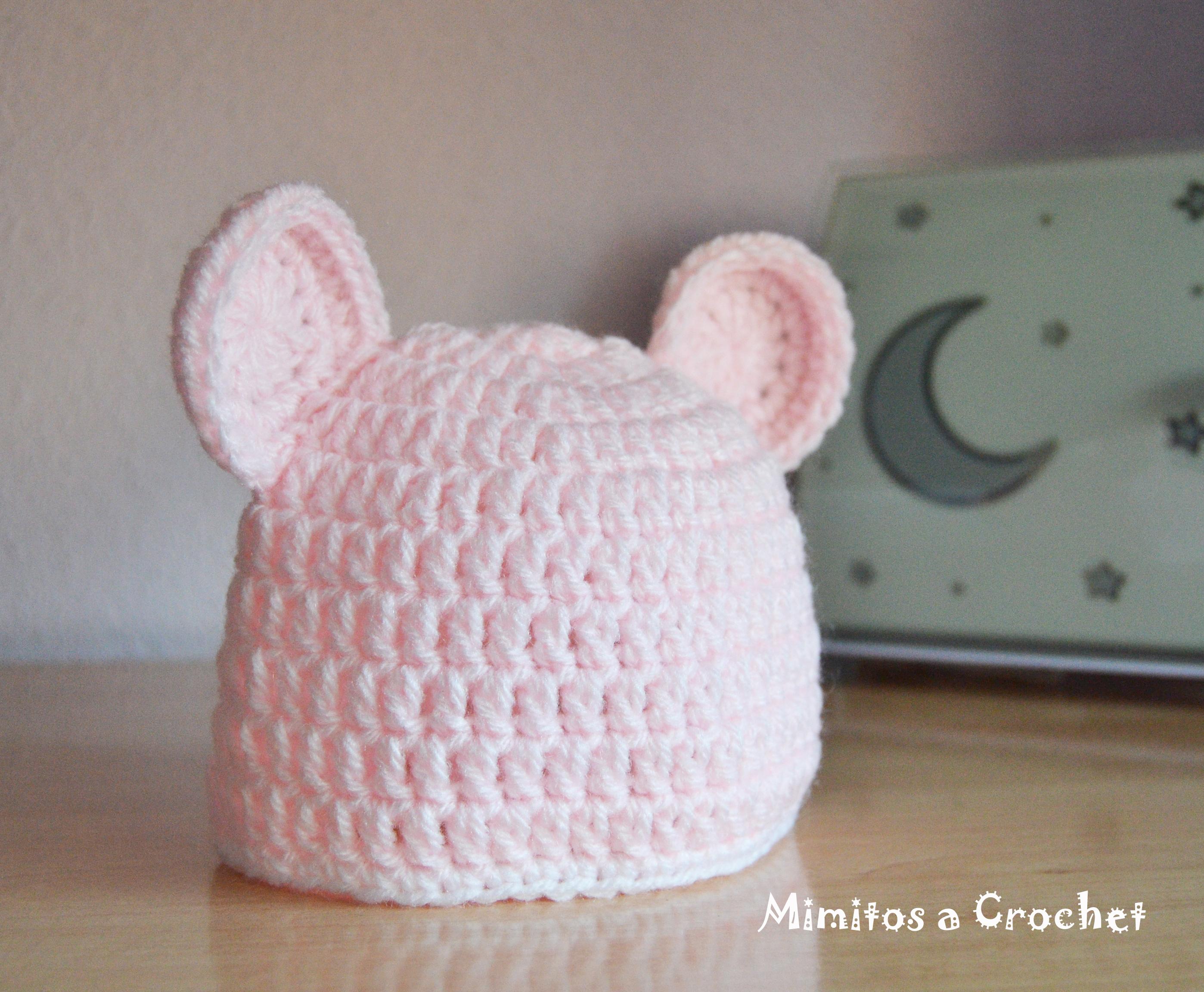 623167deb800e Gorro con Orejitas a Crochet – Mimitos a Crochet