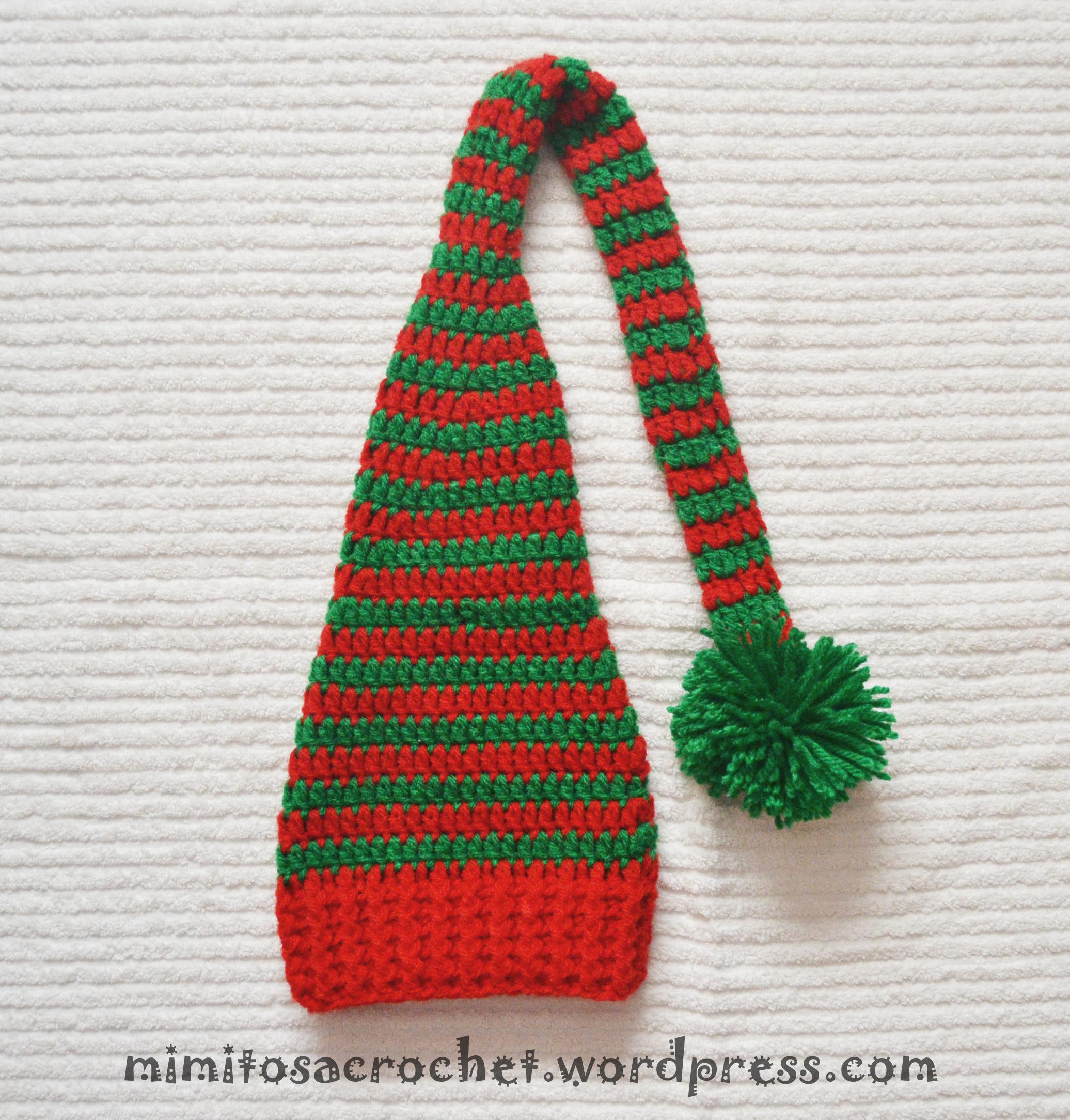Famoso Navidad Sombrero Del Duende Patrón De Crochet Ilustración ...