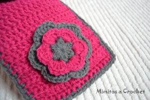 bufanda flor lana acrílica