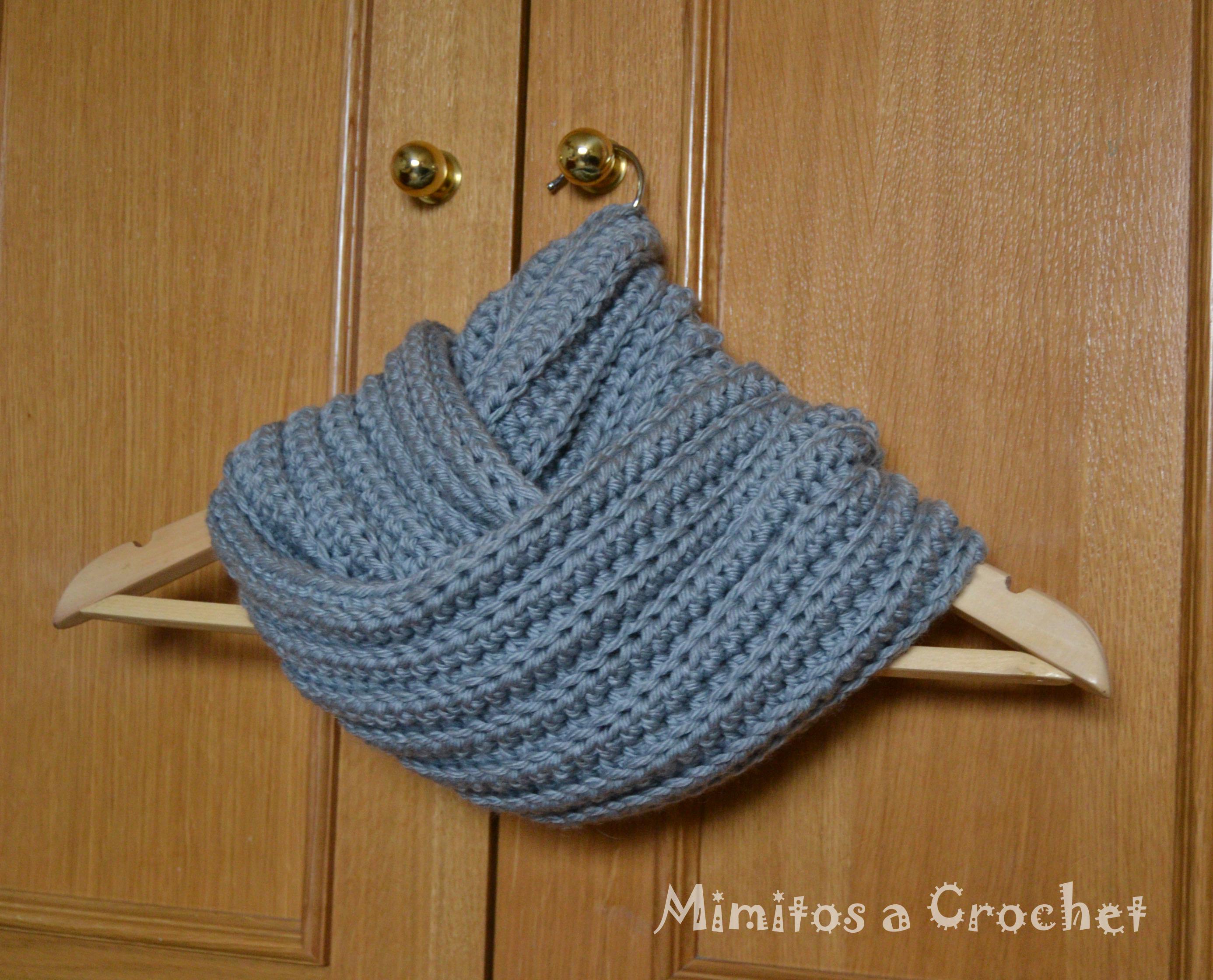 Cuello gris punto elástico VI – Mimitos a Crochet