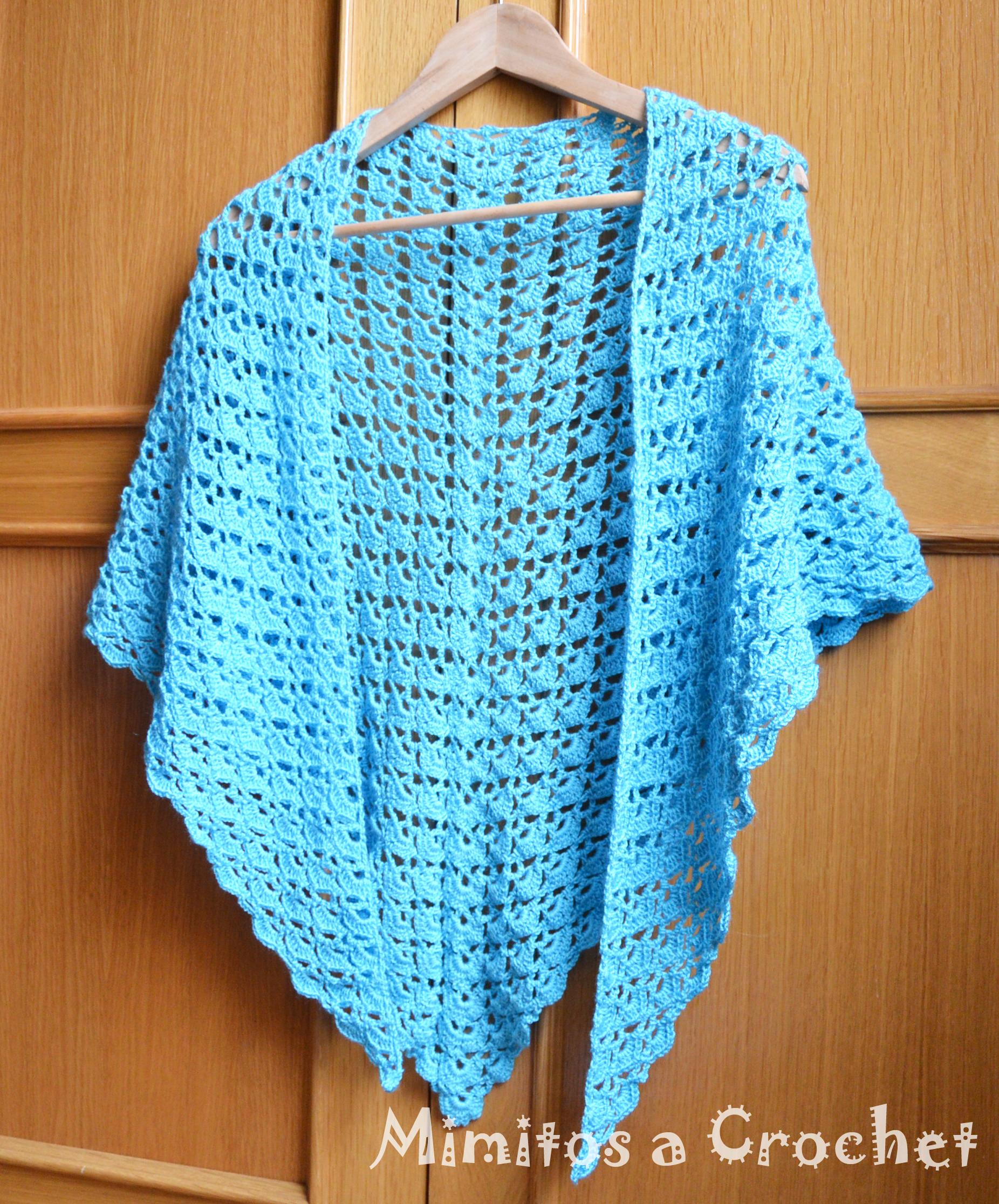 """Chal de de abanicos """"Forget Me Knot"""" a Crochet – Mimitos a Crochet"""