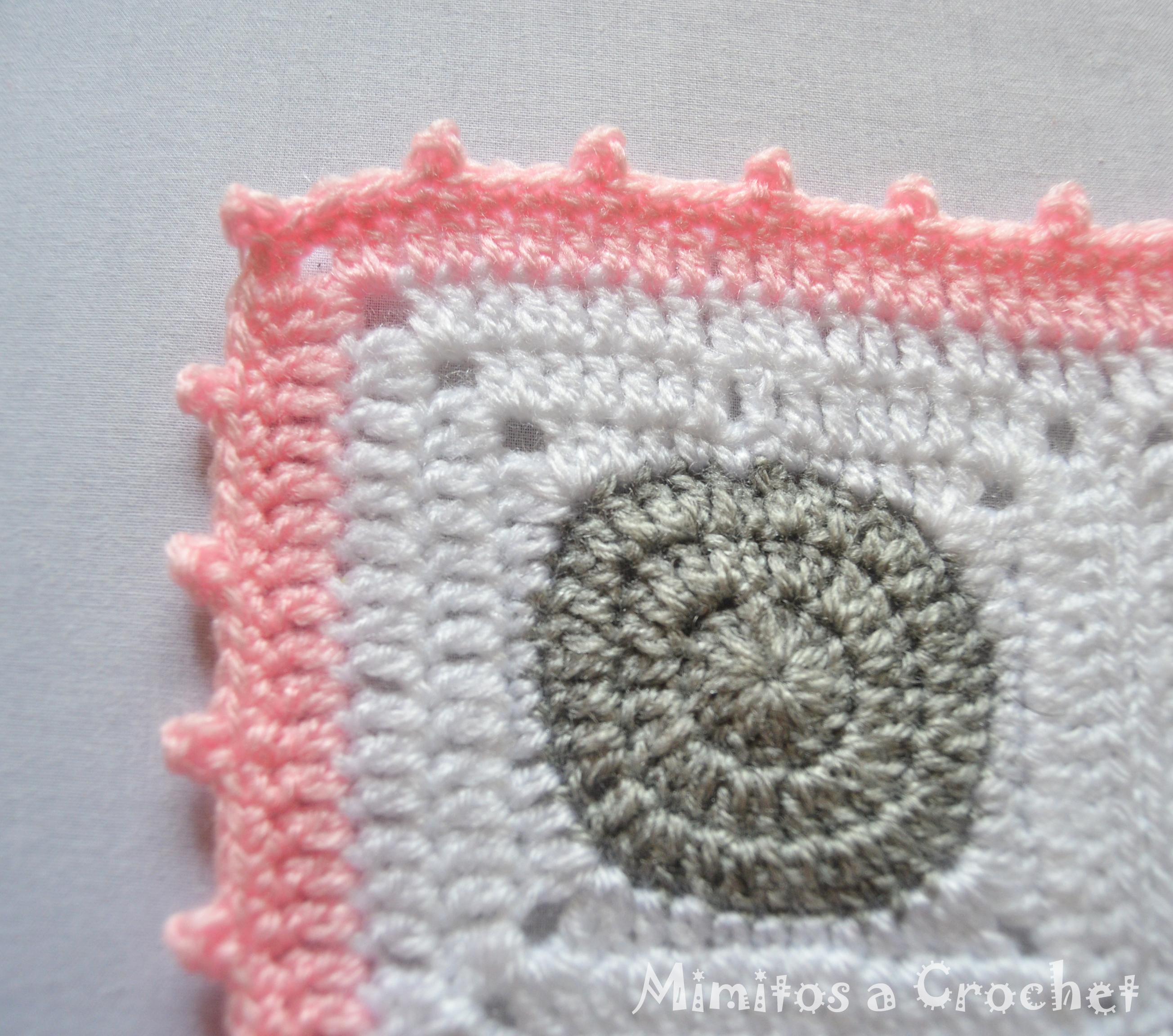 Manta con Grannys Squares Círculo-Cuadrado a crochet – Mimitos a Crochet